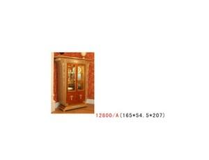 Витрина 2х дверный орех золото