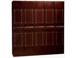 Шкаф 2х дверный в коже