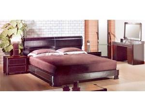 Кровать 160 в коже