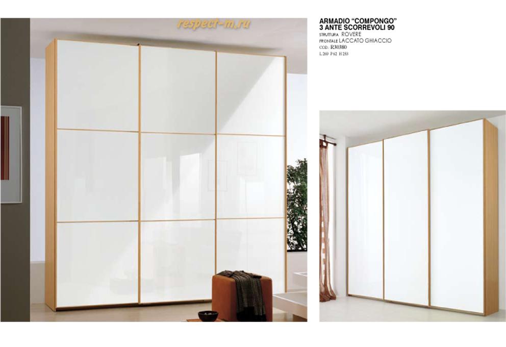 Шкаф-купе 3 двери белый глянец каталог мебели: стол, шкаф, к.