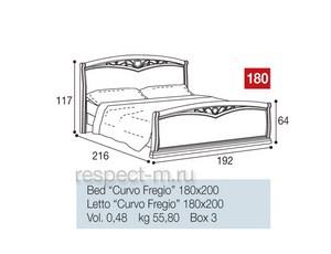 Кровать 180 Curvo Fregio