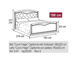 Кровать 180 Curvo Fregio Capitonnè