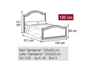 Кровать 120 Gendarme