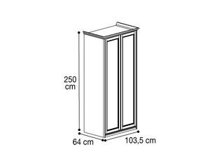 Шкаф 2х дверный
