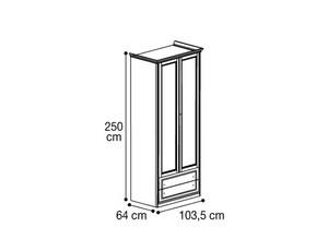 Шкаф 2х дверный с 2мя ящиками