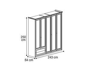 Шкаф 5х дверный с 2мя ящиками