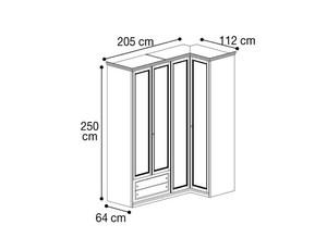 Шкаф угловой с 2мя ящиками