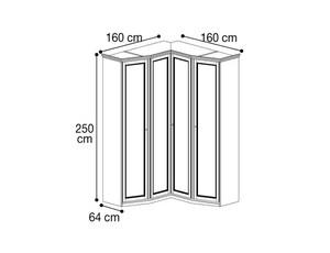 Шкаф угловой скошеные шкафы с двух сторон