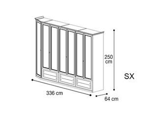 Шкаф 7 дверей со скосом с лева