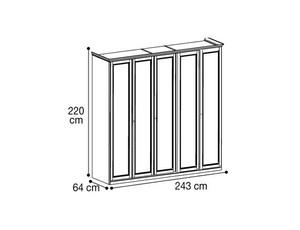 Шкаф 5х дверный