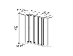 Шкаф угловой скошенный шкафы с права