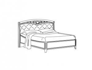 Кровать 160 Curvo Fregio Capitonnè