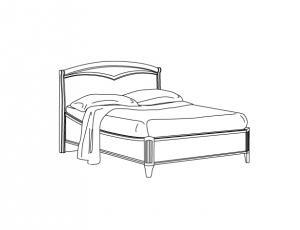 Кровать 140 Curvo Legno