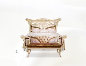 Кровать А с мягким изножьем