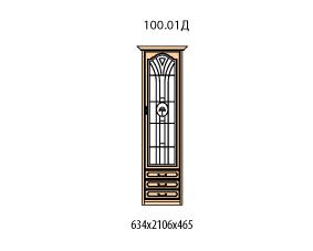 Витрина 1 дверь правая витраж с рисунком 3 ящика