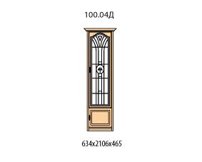 Витрина 1 дверь правая витраж с рисунком