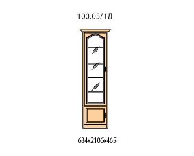 Витрина 1 дверь левая витраж стекло простое