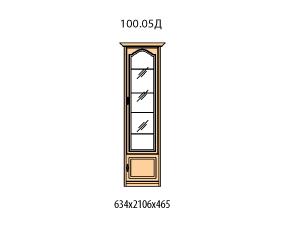 Витрина 1 дверь правая витраж стекло простое