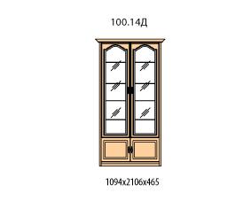 Витрина 2 двери витраж стекло простое
