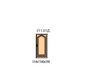 Тумба 1 дверь (боковина шпонированная с права)(окончание)