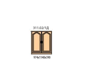 Тумба 2 двери (боковина шпонированная с лева)(окончание)