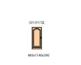 Тумба 1 дверь левая  (внутренняя)  (средняя)