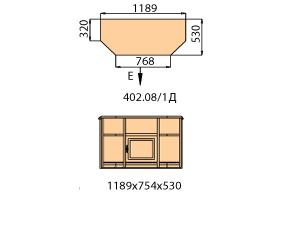 Тумба ТВ 1 дверь левая
