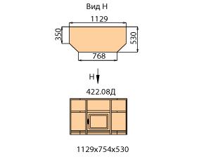 Тумба ТВ 1 дверь правая  (внутренняя)  (средняя)