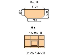 Тумба ТВ 1 дверь левая  (внутренняя)  (средняя)