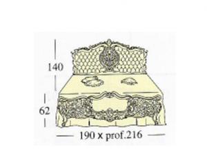 Большая двух спальная кровать Queen-size c панелями capitonne