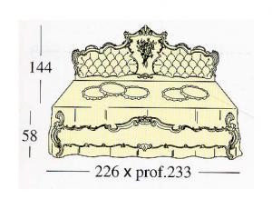 Большая двух спальная кровать Extra King-size с  панелями capitonne