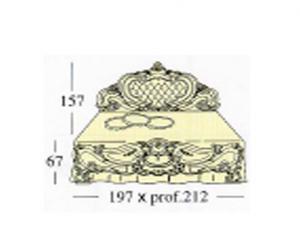 Двух спальная кровать с панелью capittone