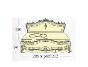 Большая двух спальная кровать Queen-size с декоративными панелями