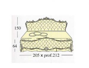 Большая двух спальная кровать Queen-size с декоративными панелями capitonne