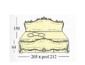 Двух спальная кровать с мягкими набивными панелями