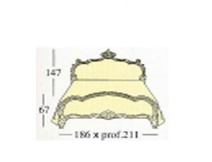 Кровать с двумя лакированными панелями