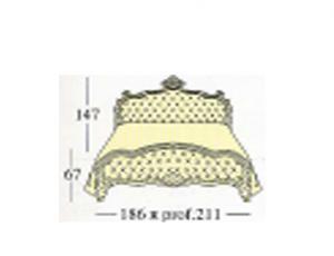 Кровать с двумя панелями capitonne