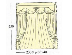 Балдахин для исполнения и размеров двух спальных кроватей queen-size