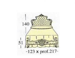 Односпальная кровать с панелью capitonne