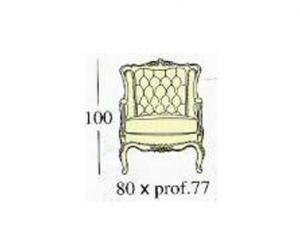 Кресло со спинкой capitonne