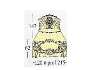 Широкая односпальная кровать Extra-size с панелями capitonne