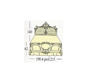 Двух спальная кровать c панелями capitonne