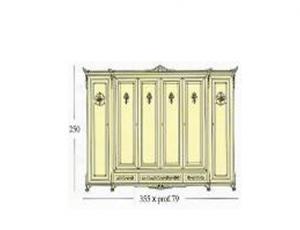 Платяной шкаф с 6-ю декоративными створками 3 наружных ящика