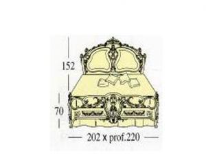Двух спальная кровать с декоративными панелями