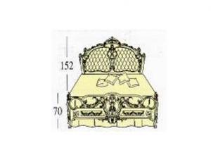 Большая двух спальная кровать Queen-size с панелями capitonne