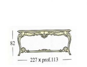 Прямоугольный стол с крестовой и с декоративной и стеклянной столешницой