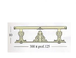 Прямоугольный стол с декоративной и стеклянной столешницей