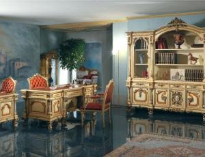 Мебельный гарнитур для кабинета GIOVE в стиле Людовика 16