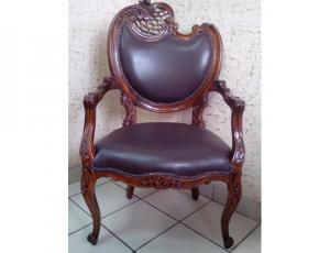 кресло кожаное