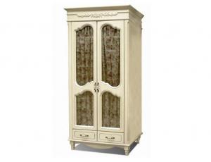 Шкаф 2 двери со стеклом